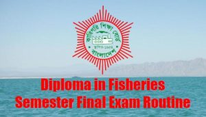 diploma in fisheries routine