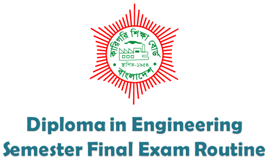 Diploma In Engineering Exam Routine  (www.bteb.gov.bd)