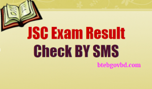 JSC result by SMS