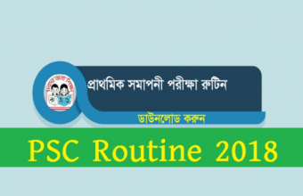 PSC Routine 2018 & Ebtedayee Exam Routine by www.dpe.gov.bd