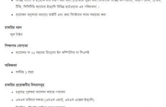 Diploma in Computer Engineering Job Circular 2018