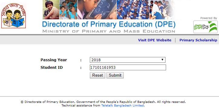 PSC Result 2019 Checking Process
