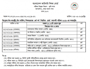Diploma In Forestry Exam Routine